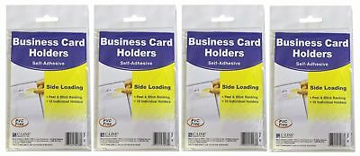 C Line Self Adhesive Business Card Holder 10 ct Professional Proposals Pack of 4