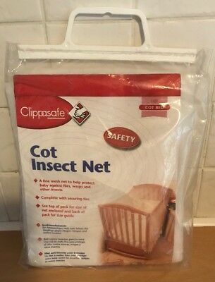 Clippasafe Cotbed Net - Keep Safe From Insects
