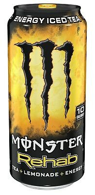Monster Rehab, Tea + Lemonade + Energy, 15.5 Ounce (Pack of 24)