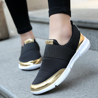 AU Womens Sneakers Casual Slip On Breathable Comfort Sport Running Trainer Shoes