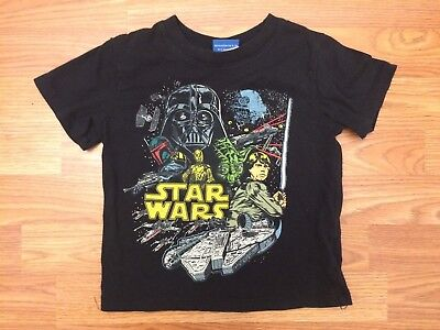 Boys toddler Star Wars A New Hope black graphic T-Shirt Size 3T