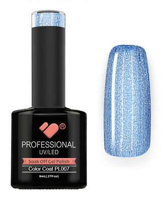 PL007 VB Line Platinum Light Blue Metallic - gel nail polish - super gel polish