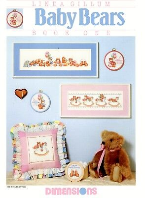 Dimensions Linda Gillum Cross Stitch Booklet - Baby Bears (Book One)