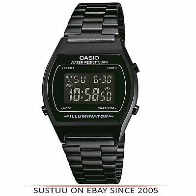 Casio B640WB-1BEF Classic Digital Watch with Stainless Steel Band- Black Dial