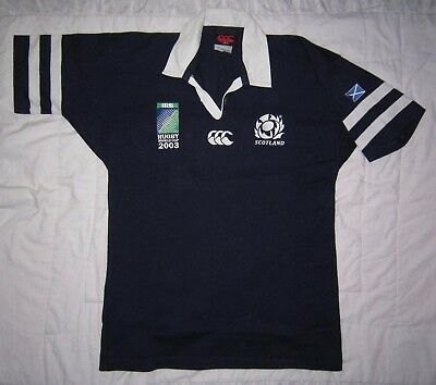 SCOTLAND 2003 Rugby World Cup jersey (Adult M) – Very Good Condition