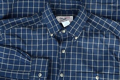 *CC FILSON CO* STYLE 865 PBD 100% WOOL Blue Yellow Check Outdoor Shirt S EUC USA
