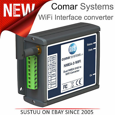 Comar NMEA-2-WIFI NMEA 0132 to WiFi Interface Converter│9 -30 Vdc│IP40│For Boats