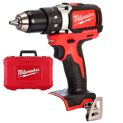 Milwaukee 18V Li-Ion M18 Brushless Hammer Drill Driver & FREE CASE - M18BLPD-0