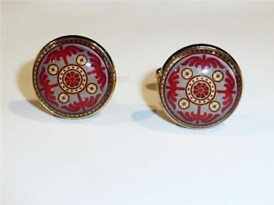 Gold Plated Cufflinks - Classical Design - Gift Bag - Free Uk P&p.........w1299