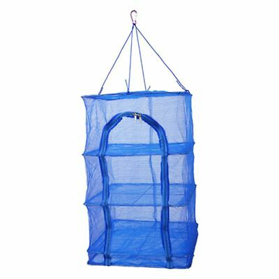 40x40x65cm 4 Layers Vegetable Fish Dishes Mesh Hanging Drying Net Durable G6K7