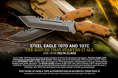 Couteau Tactical TOPS Steel Eagle Delta Class Tanto Carbone 1095 USA TPSE107DDC