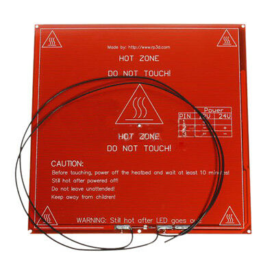 New MK2b PCB heater bed Hot Plate for prototyping / 3D Printer Red H6O4