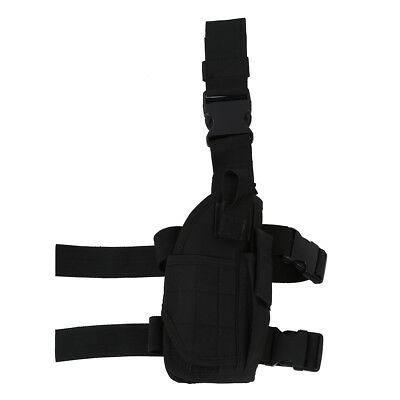 Army Pistol/Gun Drop Leg Thigh Holster - Black B3H2