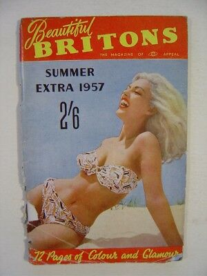 BEAUTIFUL BRITONS Summer 1957.  Men's 1950's/1960's Vintage Pocket Magazine.