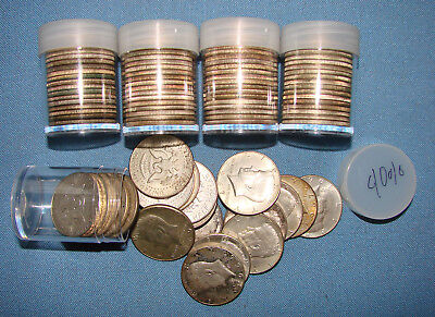 *nice Lot Of (100) Kennedy Half Dollars 40% Silver 1965 - 1969 Dates - $50 Face*