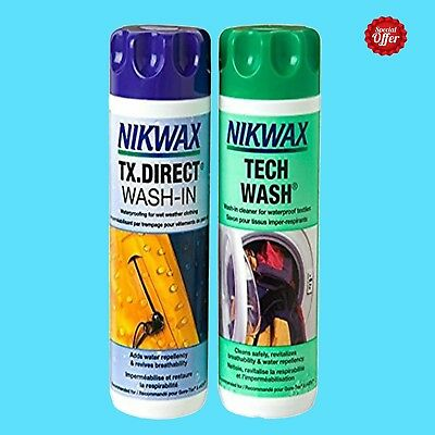 NEW Nikwax Tech Wash and TX.Direct Twin Pack 1 Litre UK's No.1 Easy to Use&Safe
