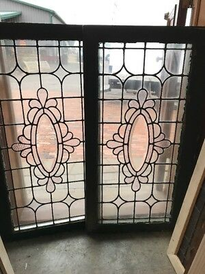 Sg 1671 2Available Price Separate Antique Oval Beveled Center Window 21.5 X 40.5