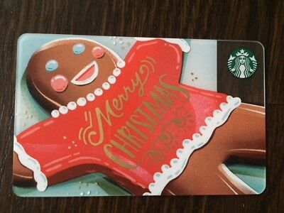 """Canada Series Starbucks """"2017 GINGERBREAD MERRY XMAS"""" Gift Card - New No Value"""