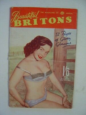 BEAUTIFUL BRITONS  Number 36.   Men's 1950's/1960's Vintage Pocket Magazine.