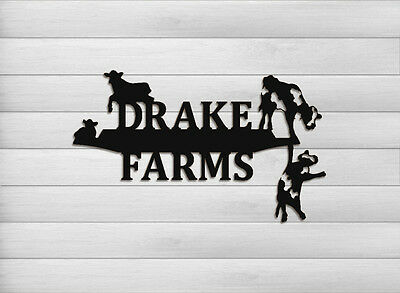 Personalized Dairy Cow Wall Hanging - Farm Decor - Cattle - Cattle Wall Hangings