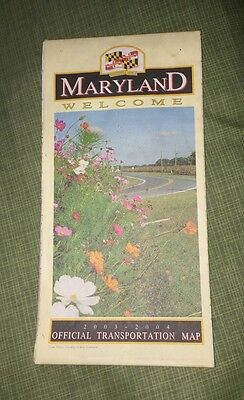2003 - 2004 Maryland State Highway Map