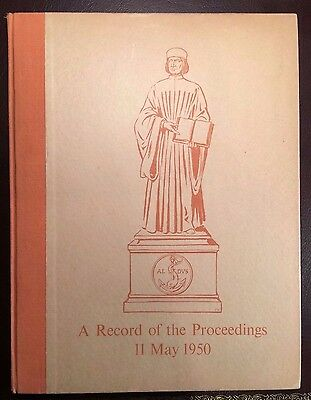LIMITED EDITIONS CLUB 1950 RECORD of the PROCEEDINGS  book