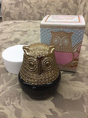 Vintage Avon Collectible Owl Raining Violets Cologne Gelee w/ Orig Box!