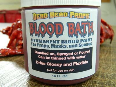 FAKE BLOOD Paint PERMANENT AND FLEXIBLE  FOR HALLOWEEN PROPS, MASKS. SCENES