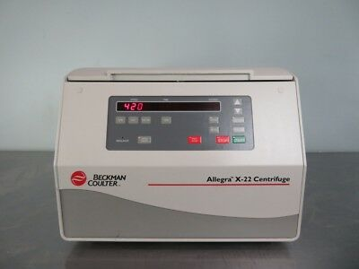 Beckman Allegra X-22 Benchtop Centrifuge with rotor and warranty SEE VIDEO
