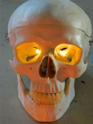 HALLOWEEN PROP Yellow FIRE EYES FLICKER EFFECT LED'S FOR MASK OR SKULL