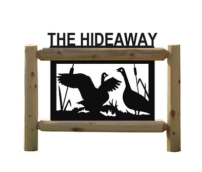 Personalized Goose Sign - Geese - Waterfowl