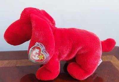 TY BEANIE BABIES BABY BUDDY ROVER the RED DOG LONG FLOPPY EARS MWMT CUTE!