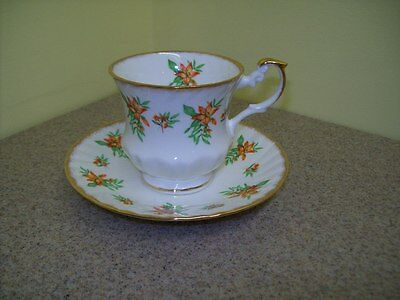 Rosina China Co. England Tea Cup & Saucer Queen's Fine Bone China