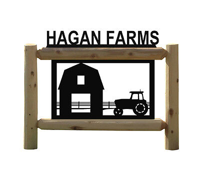 Personalized Farm Sign - John Deere Tractors - Clingermans Outdoor Signs