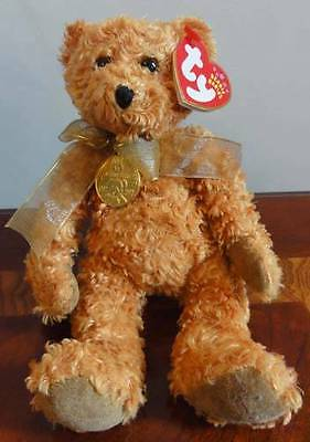 Ty Beanie Babies Baby Teddy Brown Shaggy Bear Mwmt 100 Years Anniversary 2002