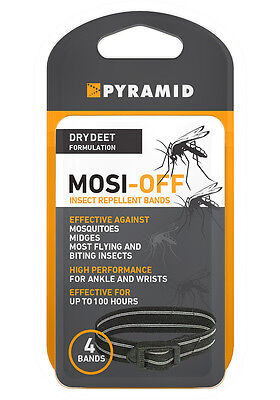 Mosquito Mosi Off Bands DEET Insect Repellent Pack of 4 Genuine Pyramid Product