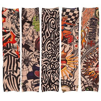 Nylon Fake Elastic Temporary Tattoo Sleeve Body Arm Stockings 5 Unisex Designs