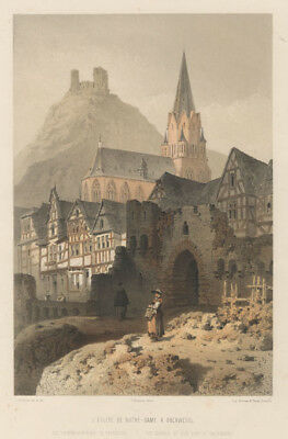 Oberwesel : Farblithographie v. F. Stroobant, ca. 1850