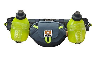 Nathan Sports Unisex Trail Mix Plus Hydration Belt, Bluestone, 20 Oz/600 ml