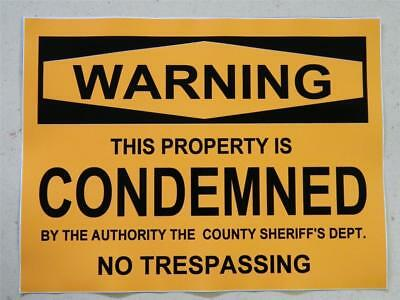HALLOWEEN HORROR Movie PROP CONDEMNED PROPERTY STICKER/DECAL
