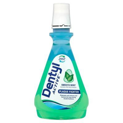Dentyl Active Plaque Fighter Mouthwash Rinse Smooth Mint 500ml New