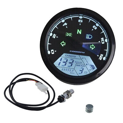 LCD Digital 12000RPM Speedometer Tachometer for Motorcycle Odometer Scooter