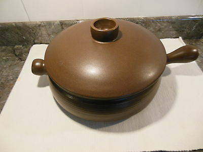 Denby/Langley Mayflower handled casserole dish