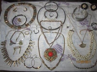 Lot of antique vintage and designer estate jewelry