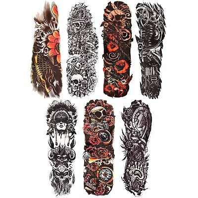 Large Full Arm Transferable Temporary Tattoo Sleeve Stencil Waterproof Body Art
