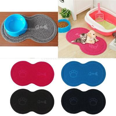 Cat Bowl Mat Dog Pet Feeding Water Food Dish Wipe Clean Floor Placemat 18''x10''