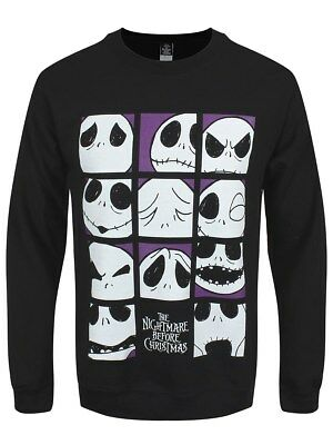 The Nightmare Before Christmas Herren Sweater Many Faces Of Jack schwarz