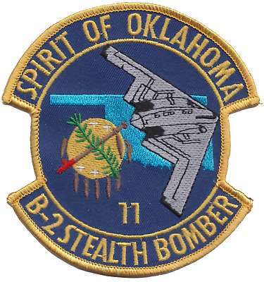 USAF B-2 Stealth Bomber Spirit of Indiana Embroidered Patch LAST FEW