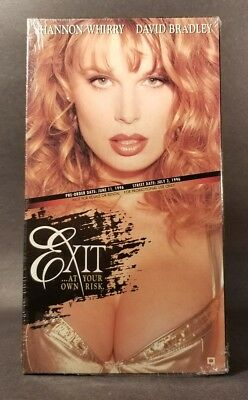 Exit -1996 (VHS, Promo) Used VG, Tested! Shannon Whirry, David Bradley, OOP!