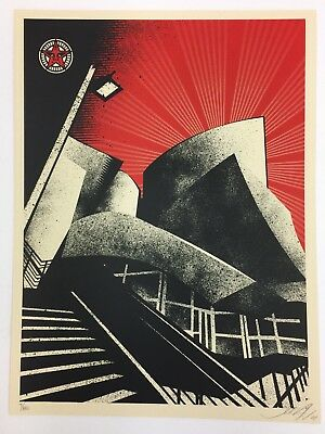 Shepard Fairey LA Philharmonic Hall Signed/Numbered Obey 2008 Print